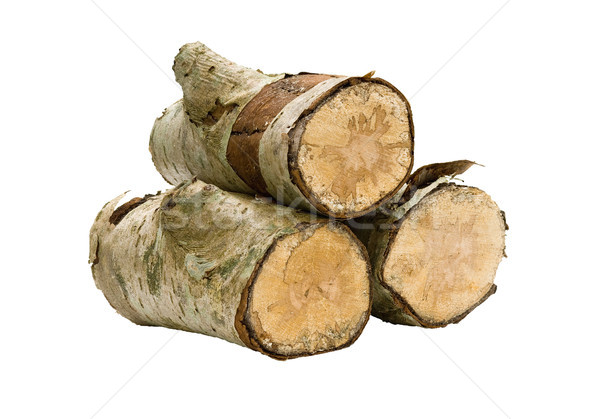 Isolated Stack of Wood Stock photo © Theohrm