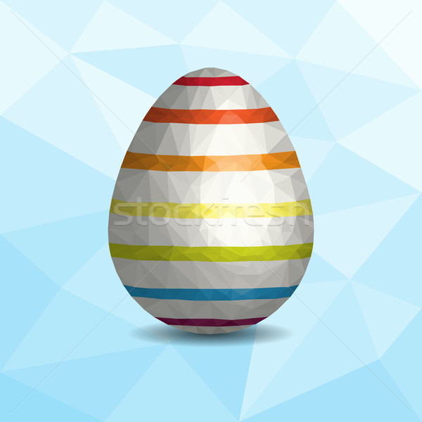 Low Poly Easter Egg Stock photo © Theohrm