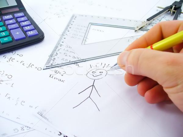 Grapje business werk tabel kantoor school Stockfoto © TheProphet