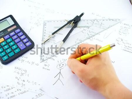 Tabel boven business werk kantoor school Stockfoto © TheProphet