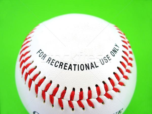 Ontspanning baseball groene bal Rood witte Stockfoto © TheProphet
