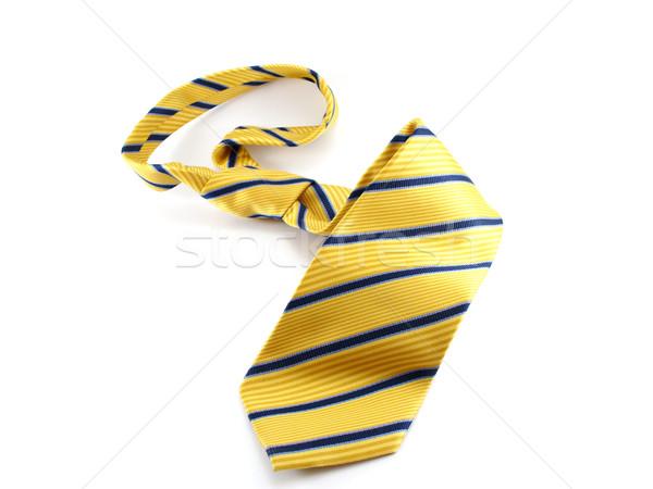 Foto stock: Amarelo · amarrar · azul