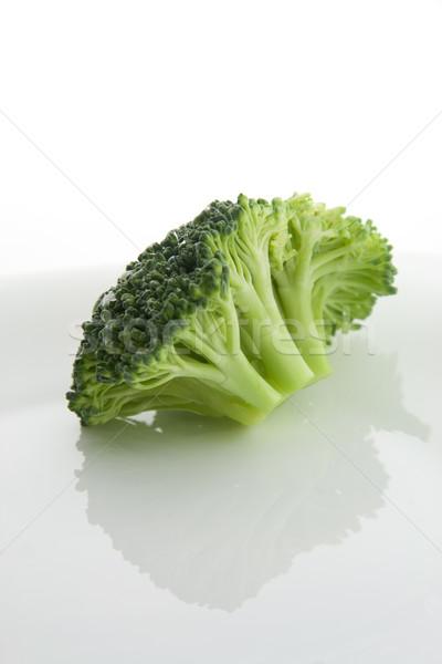 Broccoli plaat witte voedsel natuur groene Stockfoto © TheProphet