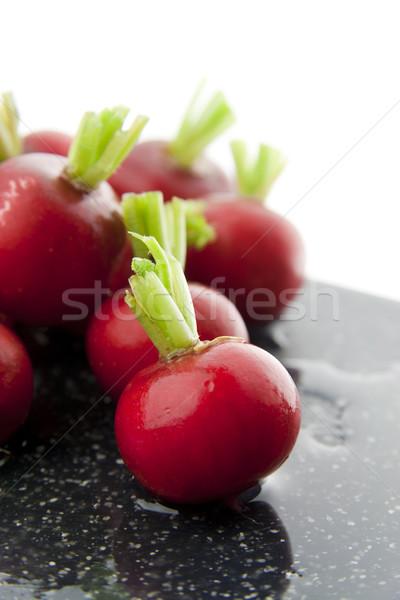 Nat Rood radijs zwarte salade Stockfoto © TheProphet
