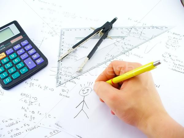Hand tekening business werk tabel kantoor Stockfoto © TheProphet