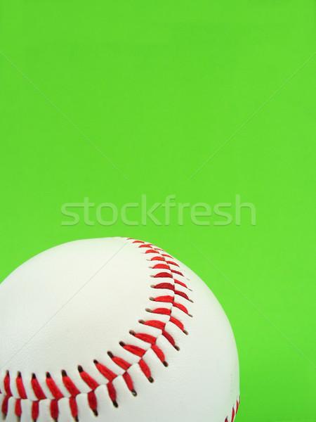 Béisbol puntada verde pelota rojo blanco Foto stock © TheProphet