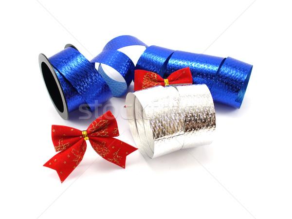 Christmas decoratie verjaardag Rood lint Stockfoto © TheProphet