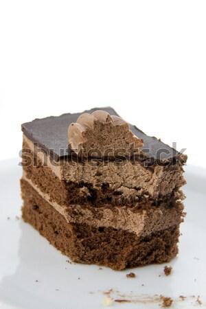 Bitten chocolate cake Stock photo © TheProphet