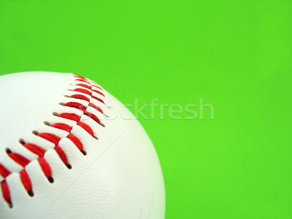 赤 ステッチ 野球 緑 ボール 白 ストックフォト © TheProphet