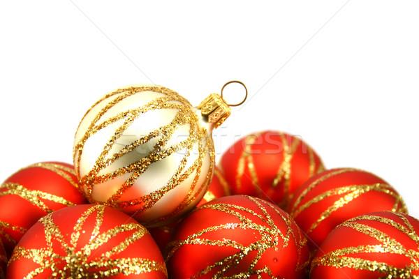 Kerstboom decoratie geïsoleerd witte vakantie Stockfoto © TheProphet