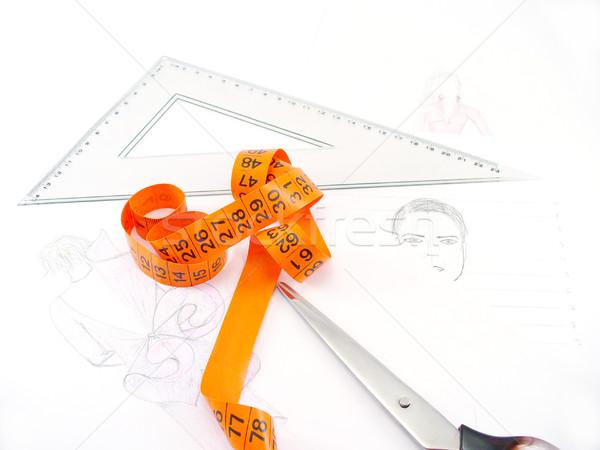 Driehoek werk tabel mode ontwerper kantoor Stockfoto © TheProphet