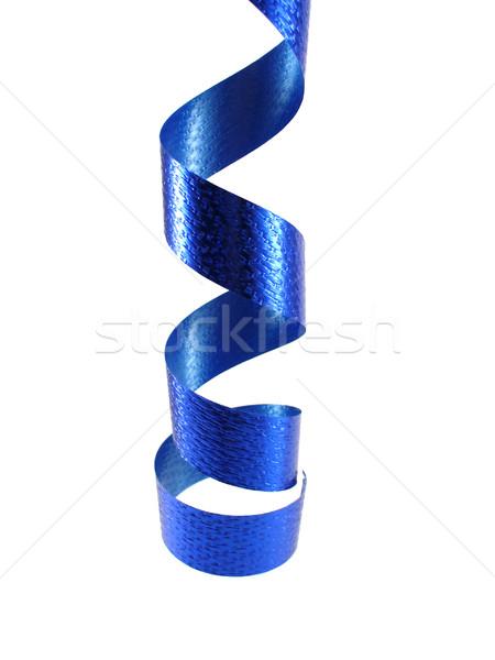 Party time Blauw partij decoratie lint opknoping Stockfoto © TheProphet