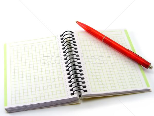 Pen boek Rood kantoor papier schrijven Stockfoto © TheProphet