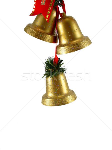Christmas decoratie gouden Rood vakantie viering Stockfoto © TheProphet