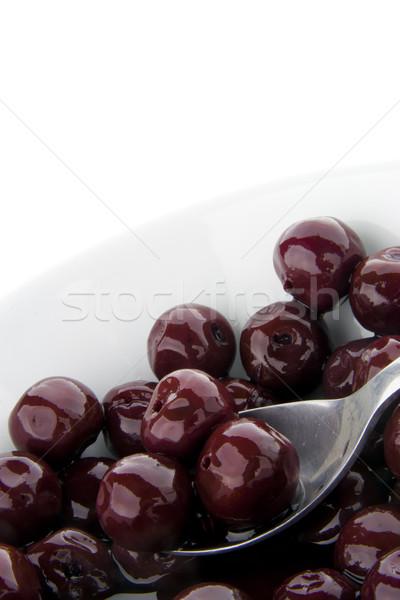 Isolated cherry compote Stock photo © TheProphet