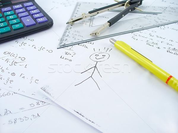Dom schets business werk tabel kantoor Stockfoto © TheProphet