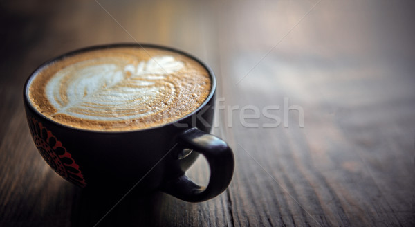 Fraîches tasse chaud café belle design Photo stock © thisboy