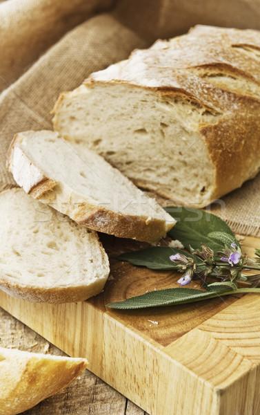 Taze ekmek taze somun Stok fotoğraf © thisboy
