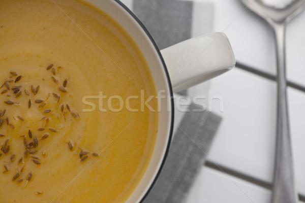 тыква суп ретро кружка полный поджаренный Сток-фото © thisboy