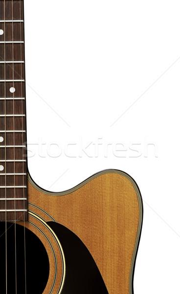 гитаре изолированный белый тело Сток-фото © thisboy