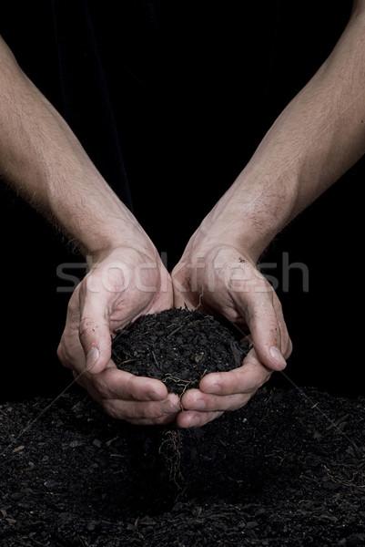 почвы мужчины рук свежие стороны Сток-фото © thisboy