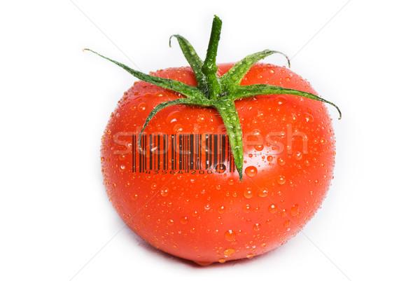 Aislado mojado tomate cuadrados gotas Foto stock © thisboy