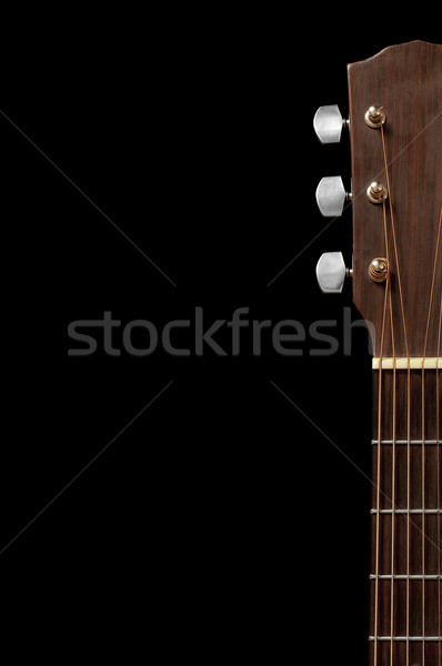Guitare cou tuning isolé noir Photo stock © thisboy