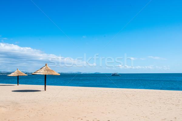Peaceful beach resort sun shelter Stock photo © thisboy