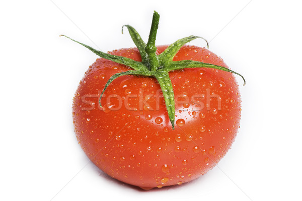 Aislado mojado tomate gotas verde Foto stock © thisboy
