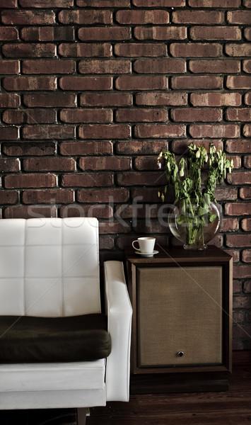Retro casa salón habitación sofá Foto stock © thisboy