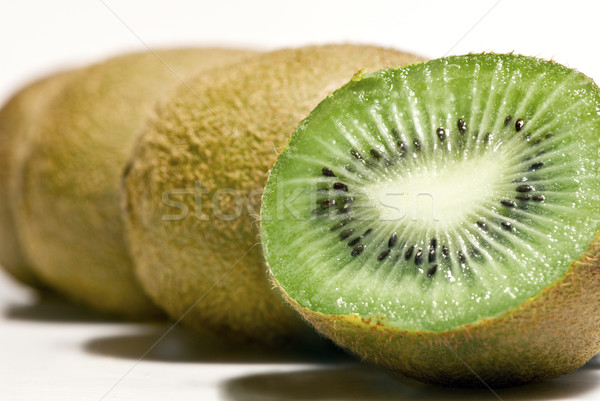 Csetepaté kiwi gyümölcs felfelé izolált fehér Stock fotó © thisboy