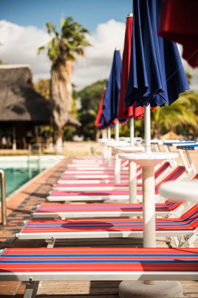 Güneş İtalyan başvurmak havuz yaz Stok fotoğraf © thisboy