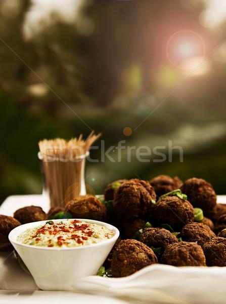 травы служивший продовольствие ресторан мяча Сток-фото © thisboy