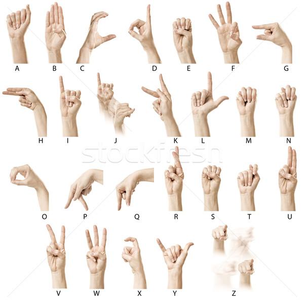 Stok fotoğraf: Alfabe · etiketler · parmak · yazım · amerikan · işaret · dili