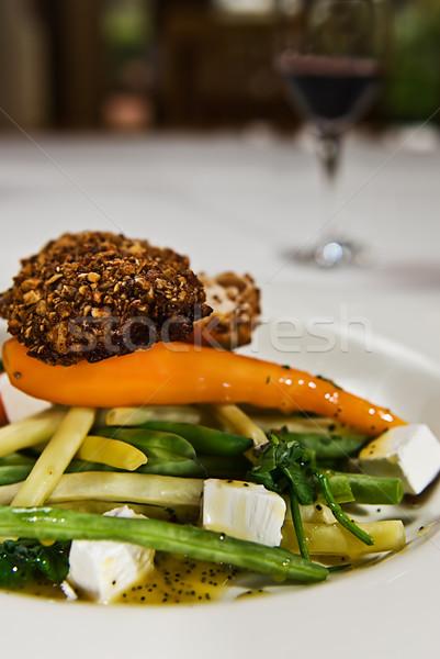 Crispy Chicken on Vegetables Stock photo © thisboy