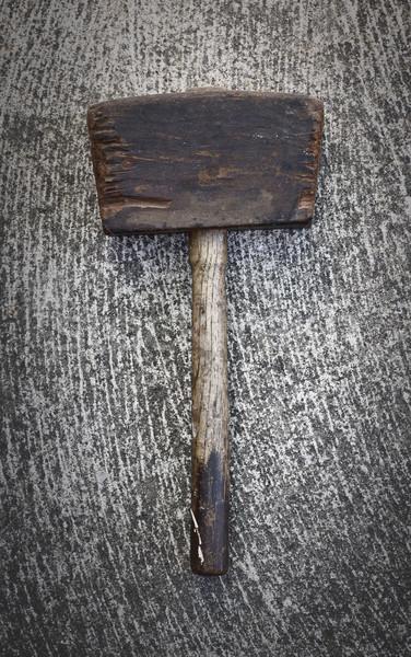 Antiguos martillo madera cemento Foto stock © thisboy