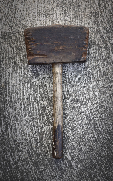 Сток-фото: антикварная · молота · древесины · цемент