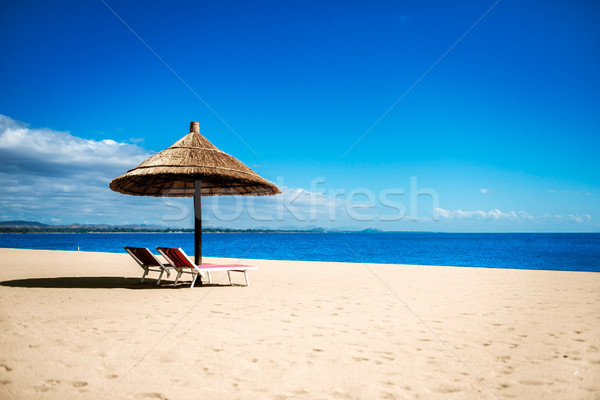 Idyllic beach resort Stock photo © thisboy