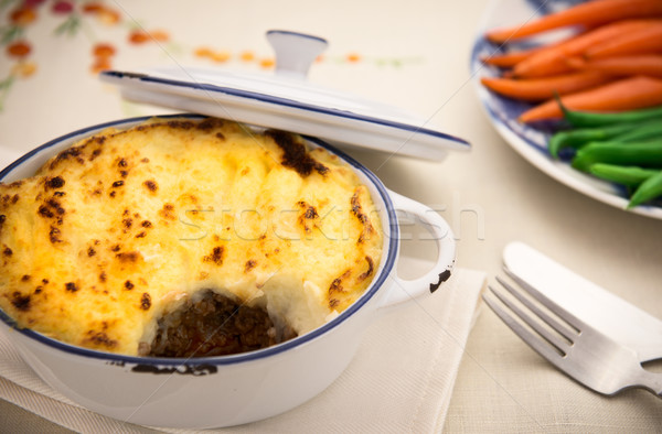 Homemade shepard pie with beef Stock photo © thisboy