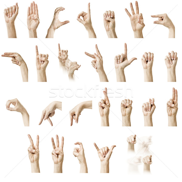ASL Alphabet Stock photo © thisboy