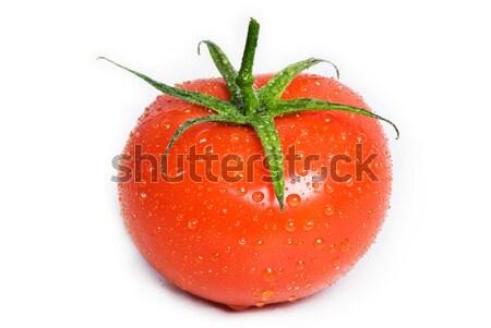 Cuadrados tomate gotas de agua aislado gotas Foto stock © thisboy