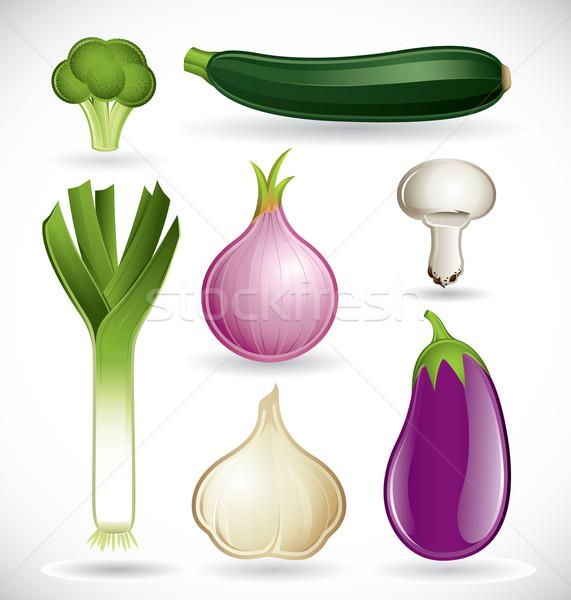 смешанный овощей набор вектора различный белый Сток-фото © ThomasAmby
