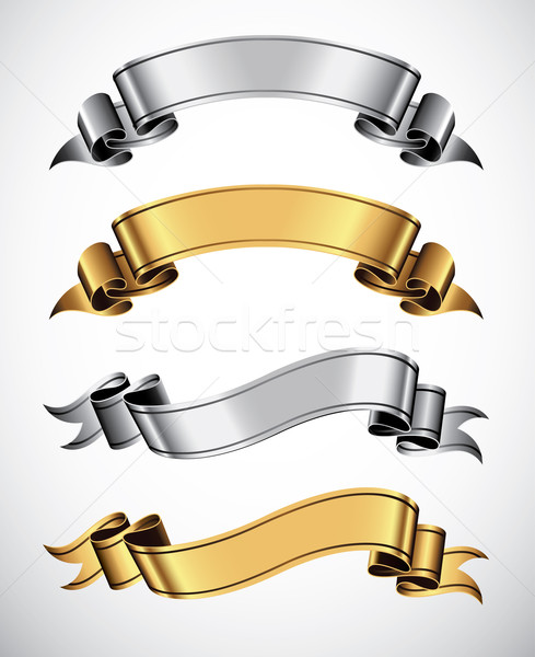 Gold and silver ribbons Stock photo © ThomasAmby