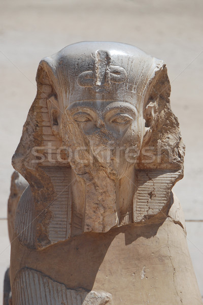 Egipcjanin głowie posąg kamień piękna górskich Zdjęcia stock © thomaseder