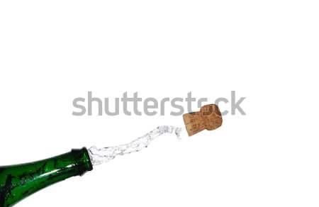 Pezsgő borosta kép buli születésnap új év Stock fotó © thomaseder