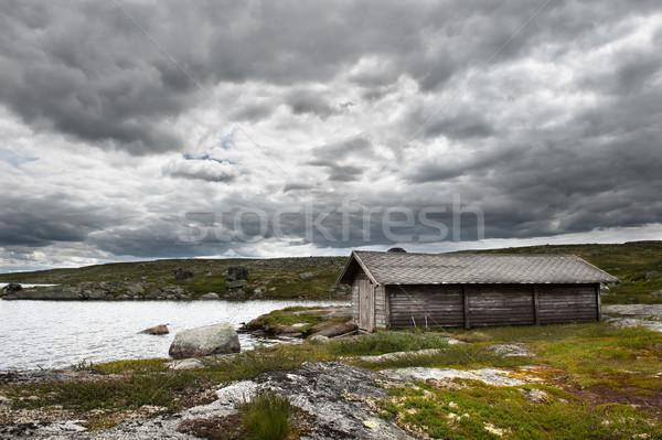 Orageux météorologiques paysage montagne passage Oslo Photo stock © thomland