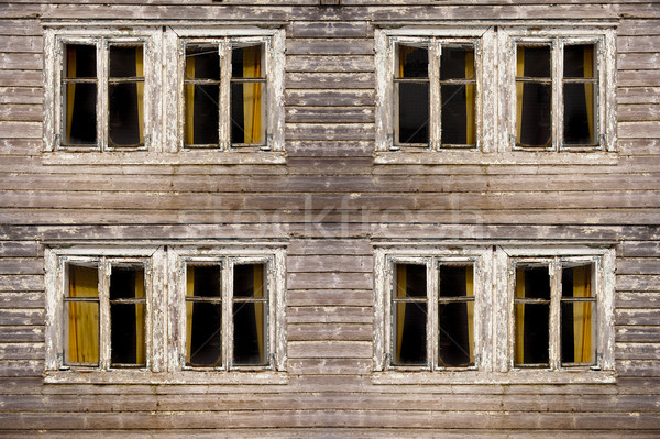 捨てられた 建物 古い 西部 見える ストックフォト © thomland