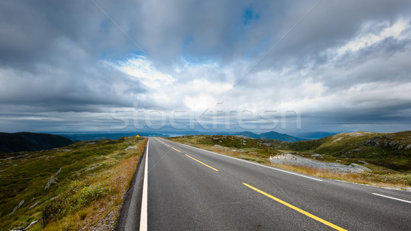 Weg reis berg top humeurig hemel Stockfoto © thomland