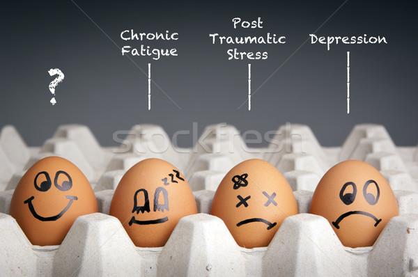 Saúde mental estilo ovo diversão Foto stock © THP