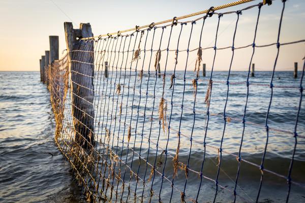 Beira-mar velho céu pôr do sol mar Foto stock © THP